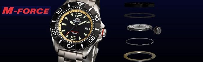 Противоударные часы Orient M-Force для дайвинга